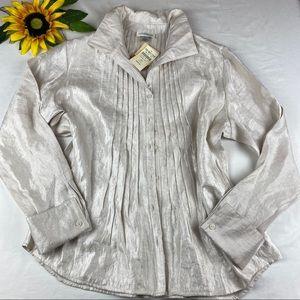 Coldwater Creek Long Sleeve Button Front Shirt